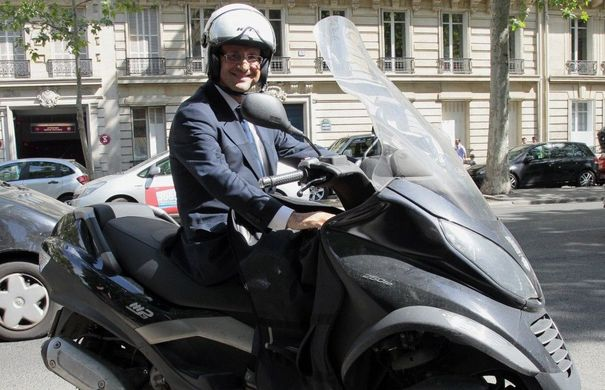 Piaggio MP3 de François Hollande